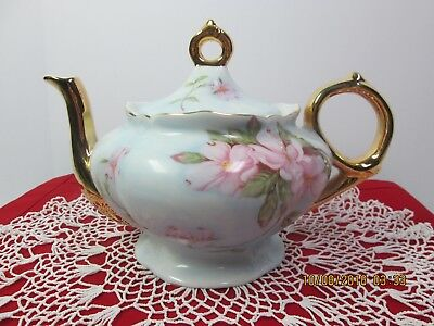 Music Box/teapot Lefton China New Condition Gold Gilded