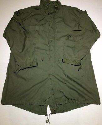 VTG 1982 US ARMY EXTREME COLD WEATHER FISHTAIL PARKA SHELL ONLY SZ Medium