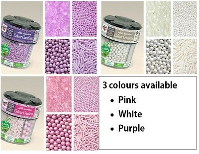 Colour Creations - Edible Decorations Sprinkles - 6 in 1