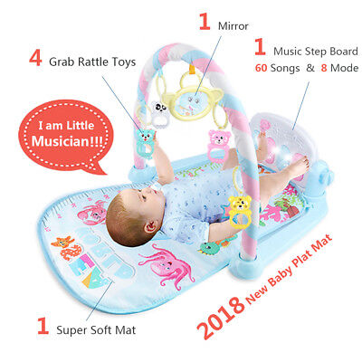 Soft Baby Mat Music Step Board Infant Play Mat Gym Baby Gym Play Mat Baby Toys A
