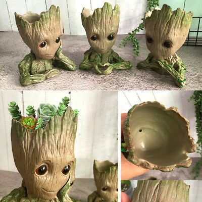 Green Flowerpot Pen Pot Of Guardians of The Galaxy Baby Groot Tree Man Figure