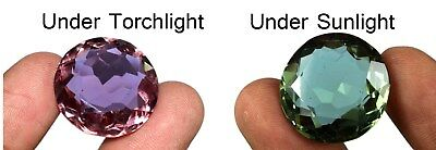 Alexandrite Loose Gemstone 40.05 Ct/23mm Color Changing Round Certified B4189