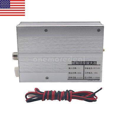 40W UHF 400-470MHZ Ham Radio Power Amplifier for Interphone DMR DPMR P25 C4FM /%
