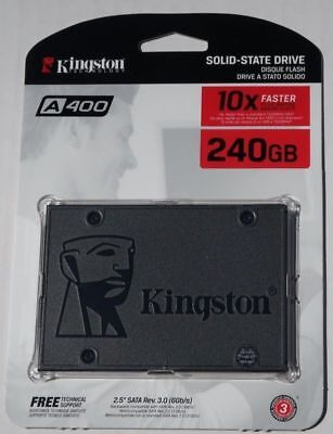 "Kingston 120GB 240GB 480GB Internal SSD Solid State Drive SATA3 6,4cm 2.5"" A400"