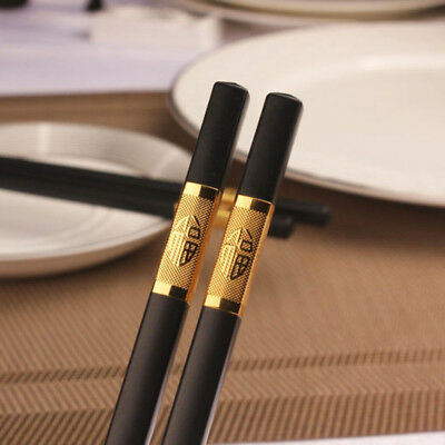 1pairs Black Gold Chopsticks Reusable Cooking Japanese Chopsticks set Korean New