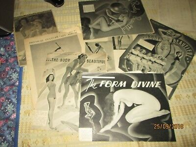 """NAKED LADIES-1930-40's.VINTAGE """"HEALTH & Physical Culture"""" PAGES x 50 approx.VGC"""