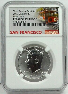 2018 S Kennedy 50c Half Dollar Coin NGC PF70 CERTIFIED Light Finish Error