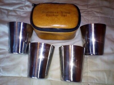 Vintage Picnic Set Of Cups & Case, 1960's Era.