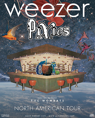 4 Weezer and Pixies Oracle Arena CENTER FLOOR B Row 23 AISLE !! 4/10/2019