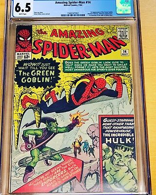 Amazing Spider-Man #14 CGC 6.5 White Pages!  1st Green Goblin!