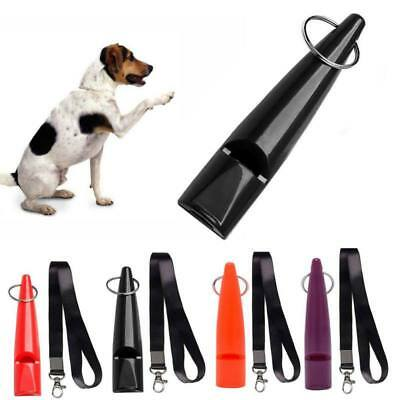 US Pet Dog Puppy Ultrasonic Training Obedience Whistle Sound Keychain Adjustable