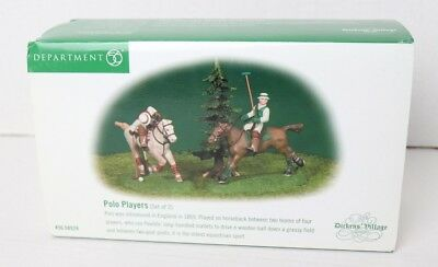 Dept 56 Department DICKENS' Village Series POLO Players Set of 2 56.58529 w/Box