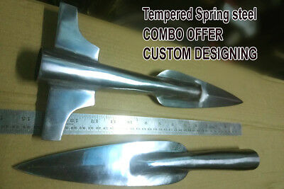 """COMBO VIKING Spear Head 15"""" overall high carbon steel spear"""