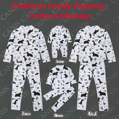 Family Matching Christmas Pajamas PJs Dinosaur Cotton Xmas Sleepwear Nightwear
