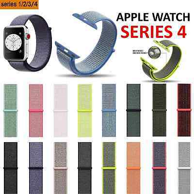 Sport Loop Nylon Woven Watch Band for Apple Watch Series 4 3 2 1 40 44mm 38 42mm