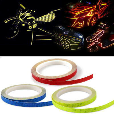 8M Reflective Safety Warning Tape Car Bike Motorcycle Sticker Glow Bright