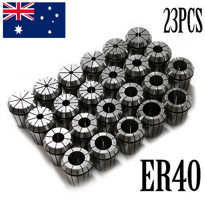 AU 23X Precision  ER40 Collet Set CNC Milling Lathe Tapping Clamp Spring Collet