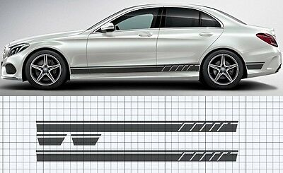 Mercedes-Benz C-Class AMG Style W205 Side stripe Decal, Set Edition style. (C63)