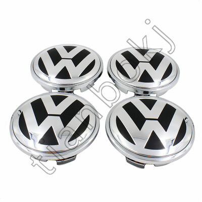 4pcs 65mm Chrome Center Wheels Hub Caps Logo Fit for VW VOLKSWAGEN Free shipping