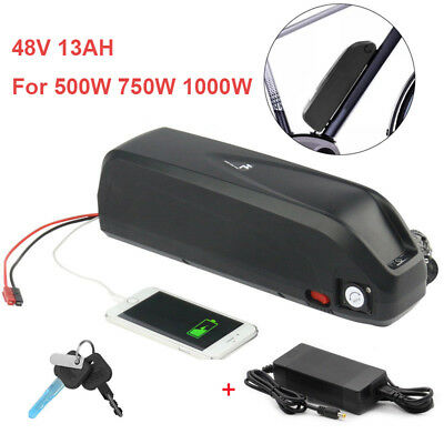 48V 13Ah 750W-1000W Li-oin Battery Pack Electric Bicycle Bike Hailong E-bike