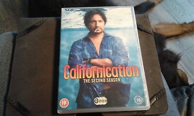 Californication - Series 2 - Complete (DVD, 2009, 3-Disc Set) reg 2