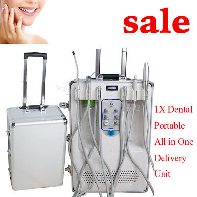 Portable Dental Mobile Delivery Unit w LED Curing Light Ultrasonic Scale Clinic