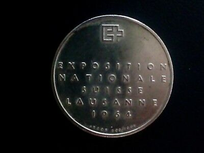 5 CHF Münze Exposition National Suisse Lausanne 1964