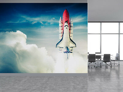 Space shuttle going in a mission photo Wallpaper wall mural (28047387) space
