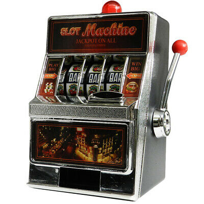 Slot Machine Casino Jackpot Money Saving Box Bank 2 in 1 Games Toy