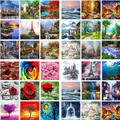 DIY Natural Scenery Paint By Number Kit Digital Oil Painting Art Wall Home Decor