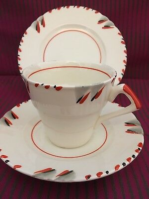 Art Deco Myott Handpainted Trio