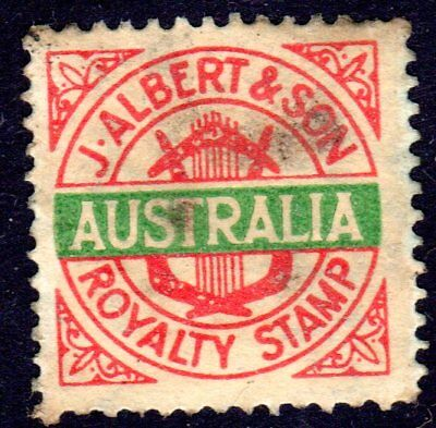 J Albert & son - AUSTRALIA royalty tax revenue stamp from old 78 record