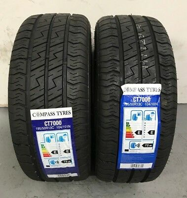2 x 195/50 R13C Compass CT7000 104/101N 195 50 13 Trailer - TWO TYRES