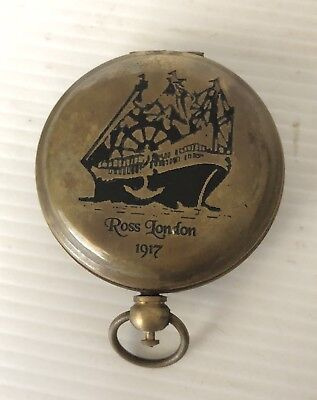 Great Rose London 1917 Soild Brass Collectable Compass