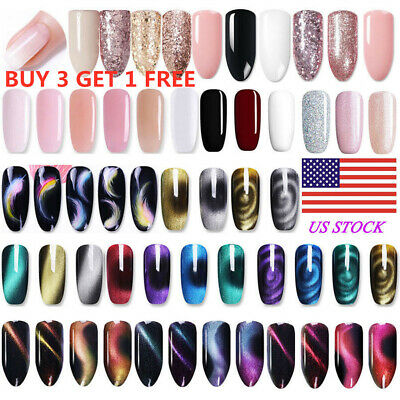 BORN PRETTY UV Gel Nail Polish Set Rose Gold Cat Eye Magnetic Manicure Decor