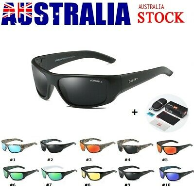 Mens Sports Sunglasses Running Cycling Wrap Around Polarized Glasses UV Protect