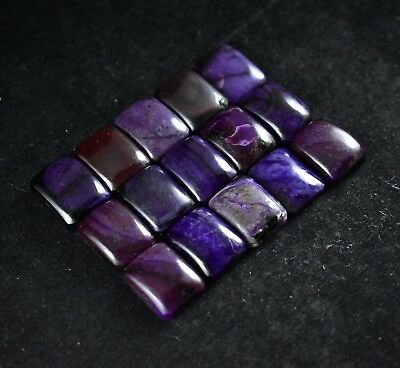 15X12MM Wholesale Sugilite Cabochon Matched Size 15pc Calibrated Gemstones 596