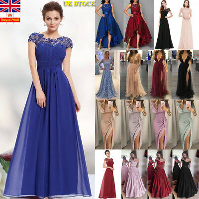 Plus Size Women Evening Party Lace Maxi Dress Ladies Cocktail Dress Prom Gown UK