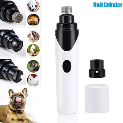 Electric Pet Dog Cat Nail Grinder Rechargeable Nail Trimmer Clipper Pet Grooming