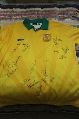 2008 Tri-Nations Beach Cricket Australian Jersey-Signed Lillee & Thommo & Hadlee