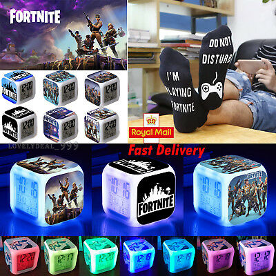 HOT FORTNITE GAME Color Changing Night Light Alarm Clock Kid Toy Game Xmas Gift