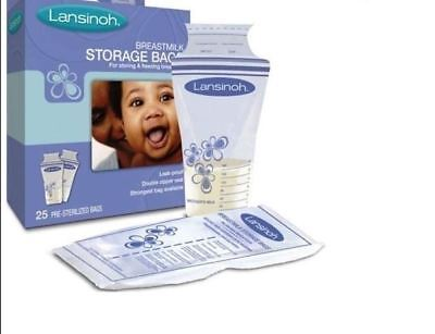 Lansinoh Breast Milk Storage Bags 25 Pre-Sterilised Bags