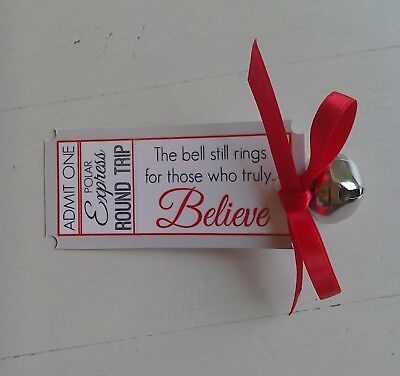 Personalised Polar Express 40cm Jingle Bell Letter From Santa Train Ticket Cocoa