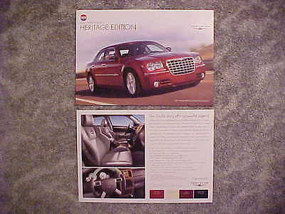 2007 Chrysler 300 C Heritage Edition Facts Card Auto Show Item NEW