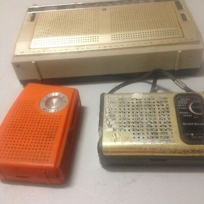 3 X Transistor Radios Collectable Vintage Radio