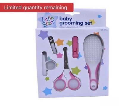 💙💕New Born 1st Years Baby Groom Grooming Essential Set with Brush Scissors💙💕