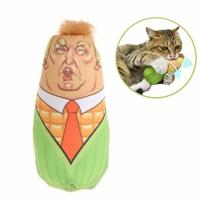 Funny Cat Toys Stuffed Plush Corn Pet Kitten Interactive Teaser Catnip Squeaky