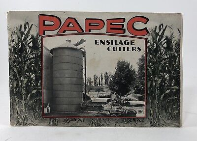 PAPEC Machine Co. ENSILAGE CUTTERS / FODDER SHREDDERS Catalog 1900s