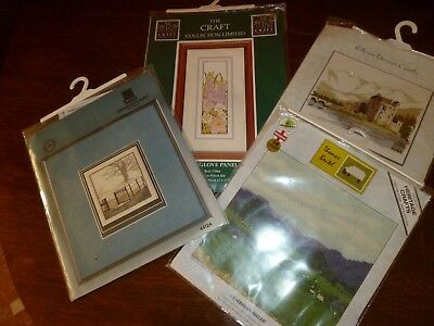 Bundle of 4 cross stitch kits - various attractive country views