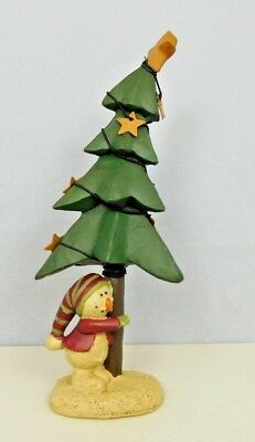 Snowman standing under a crooked tree with stars - New Blossom Bucket #82697A